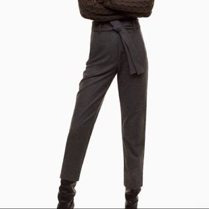 Aritzia Wilfred Wool Tie Front Pants